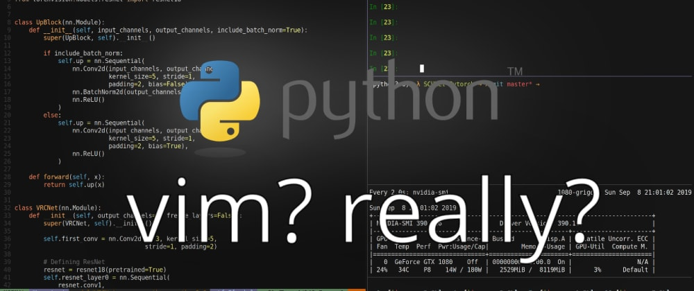 Cover image for Editor Wars: VIM as a perfect Python IDE