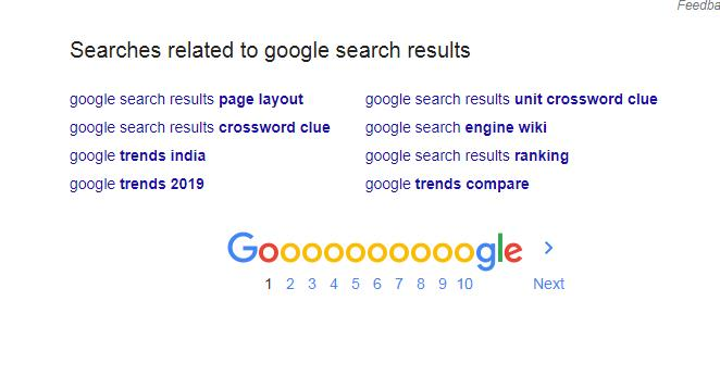 Google Search Result Page