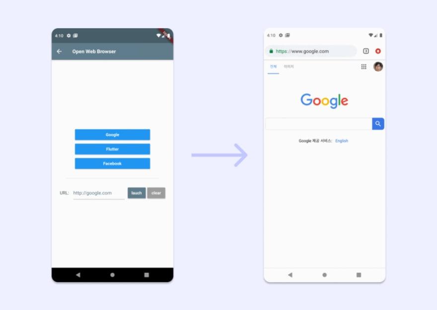 URL Launcher Plugin to open links in Flutter App