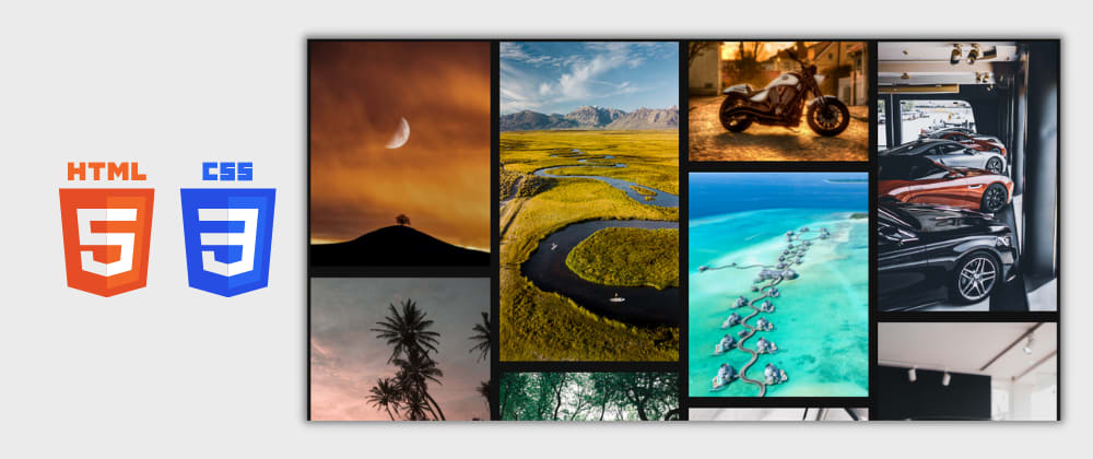 Cover image for Day 10/30 : Responsive Image Gallery using HTML and CSS