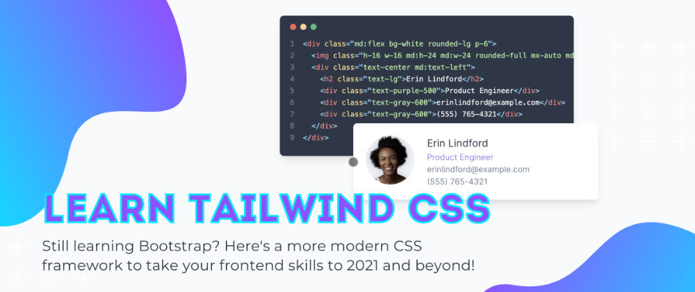 Cover image for Learn Tailwind CSS, the Bootstrap Killer ☠️