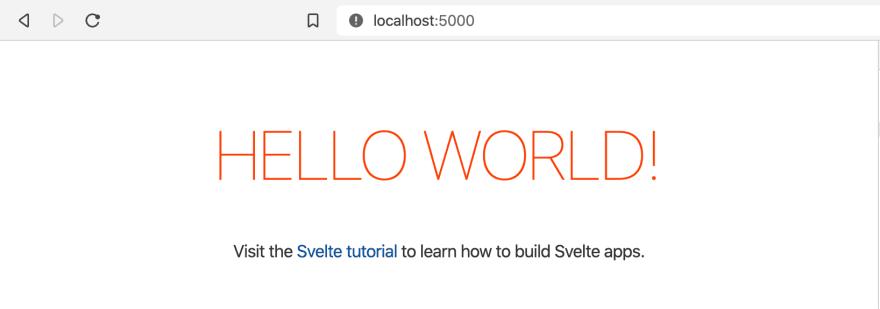 Running development server on localhost:5000