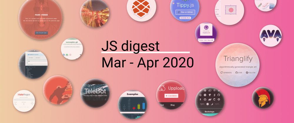 Cover image for 51 Most popular JS repositories on GitHub in March and April 2020 (during quarantine)