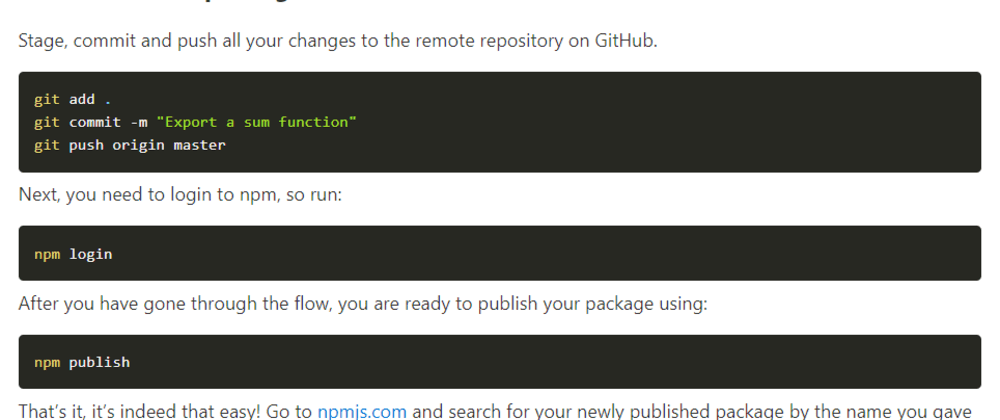 Cover image for How to publish a package on NPM