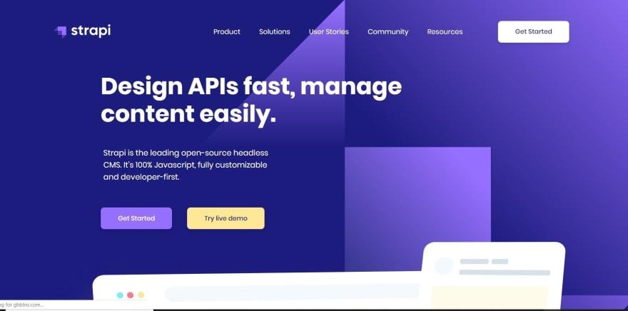 Strapi Homepage