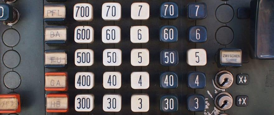 Retro calculator
