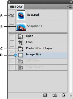 Historial de comandos de Photoshop
