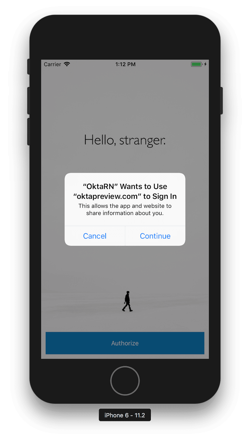 Cancel or Continue