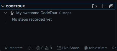CodeTour section