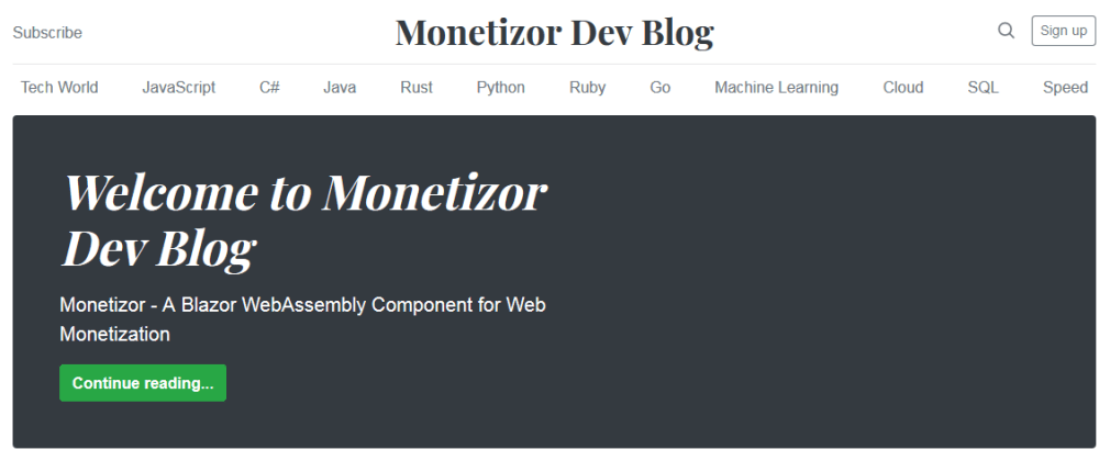 Cover image for Monetizor  - A Blazor WebAssembly Component for Web Monetization