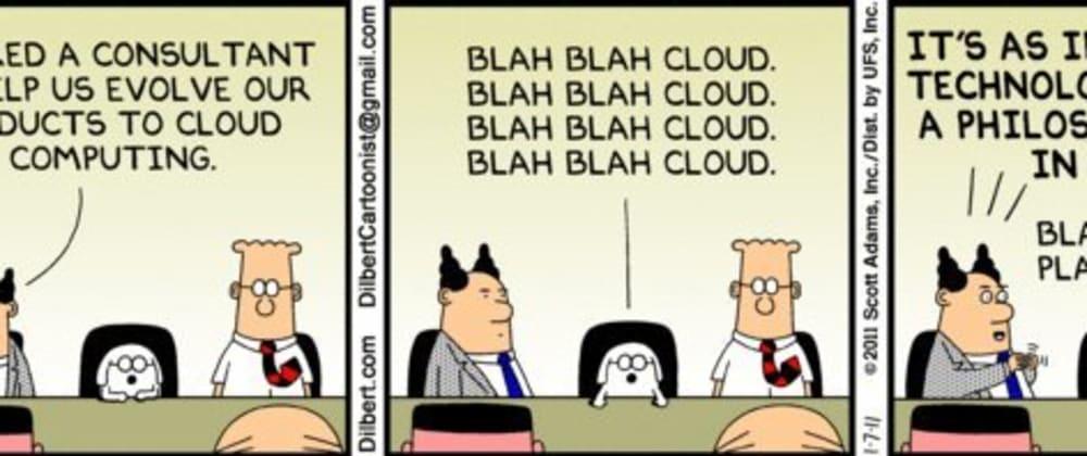 Cover image for Blah blah blah cloud, blah blah blah cloud.