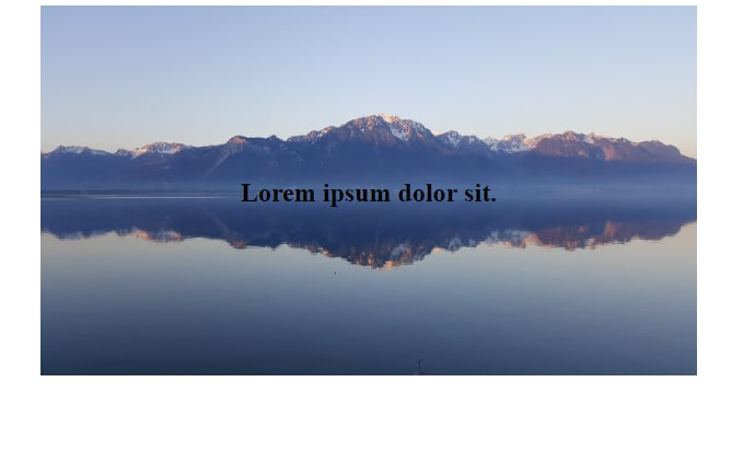 Positioning a text over an Image using CSS /HTML