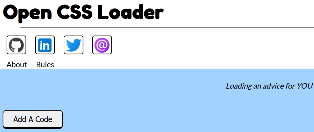 Cover image for Open CSS Loader