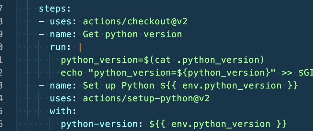Cover image for Github Actions: using python version from .python-version file (pyenv)