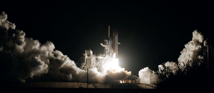 Rocket photo by NASA
