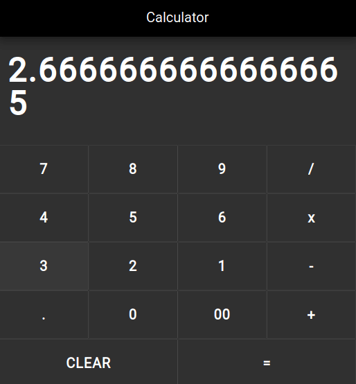 Flutter Calculator
