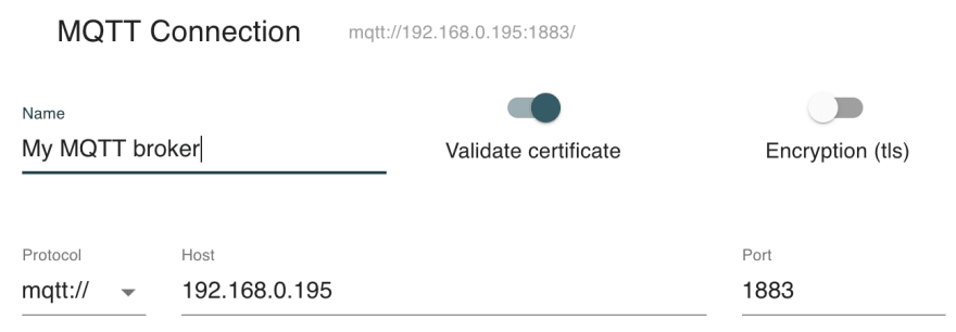 MQTT Explorer connect dialog