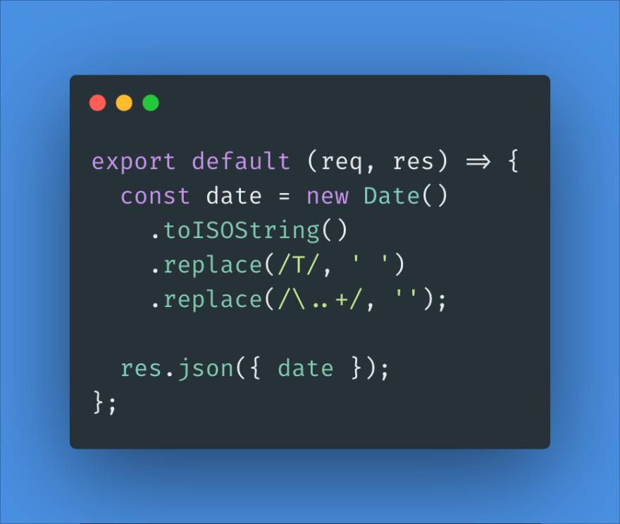 serverless function code