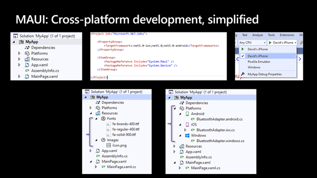 MAUI: cross platform development, simplified