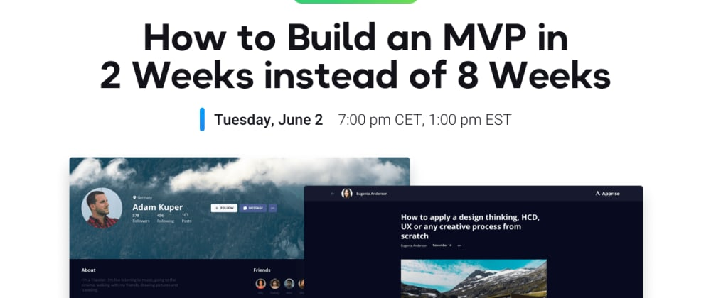 Cover image for Building an MVP without coding 4x faster