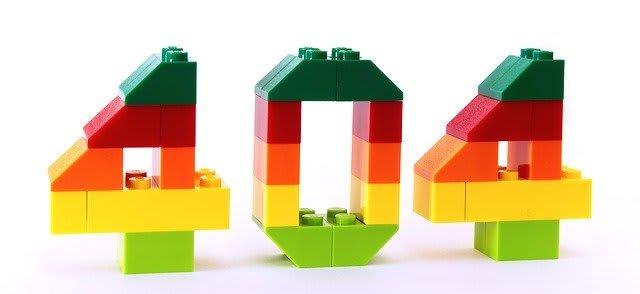 404 written using legos