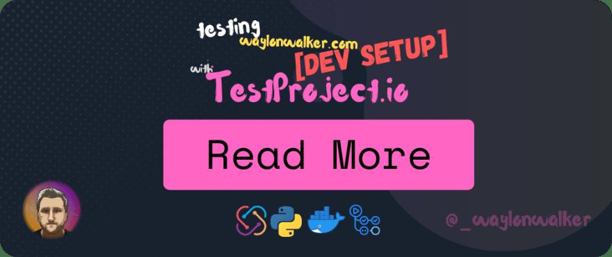 Test Project Dev Machine setup notes card