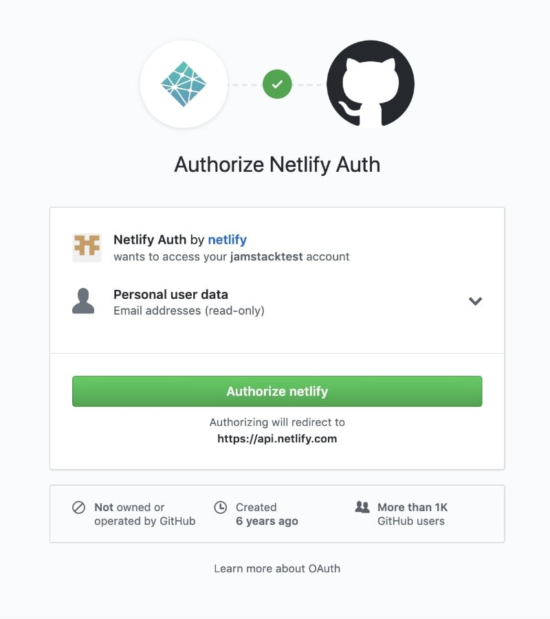 Register on Nelify with Github
