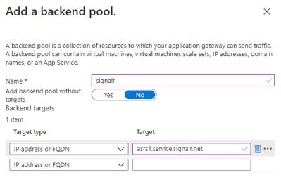 Application Gateway - Backends
