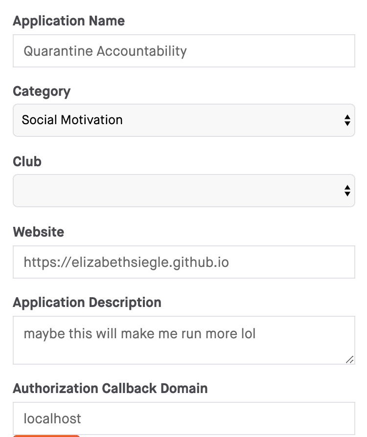 my application page
