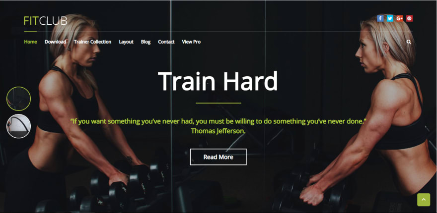 FitClub is a beautifully designed WordPress theme for health and fitness blogs, gyms, and Crossfit websites