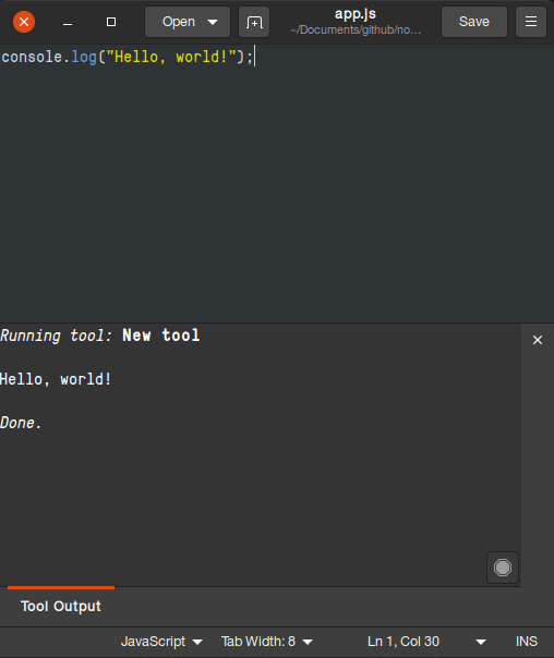 command output