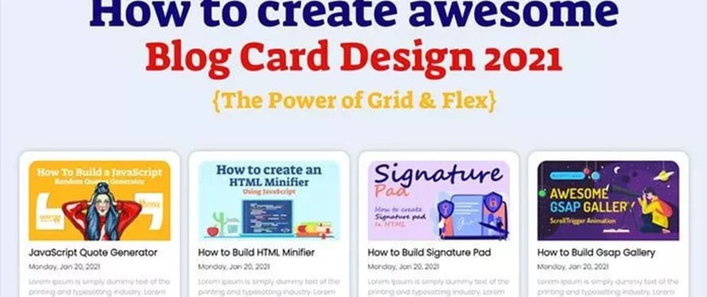 Cover image for Awesome Blog Card Design 2021 - Free Cards Design