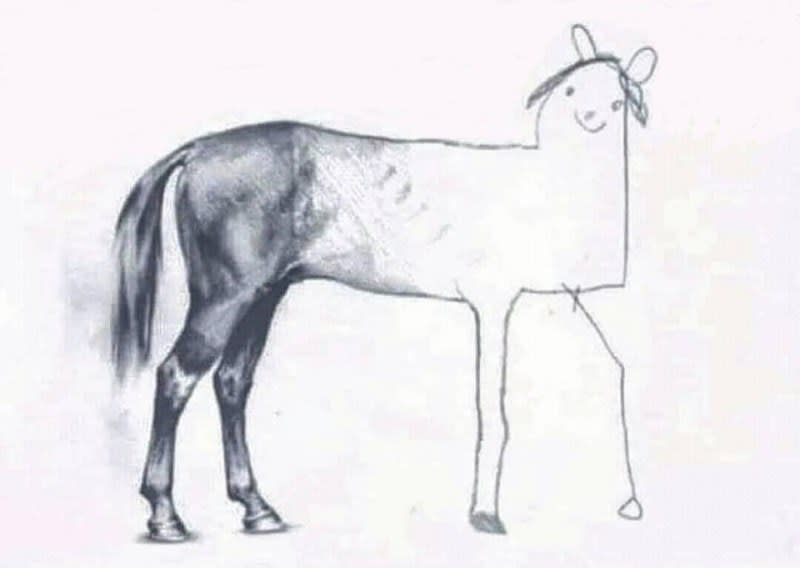 Picture of a horse that started great but ended terrible