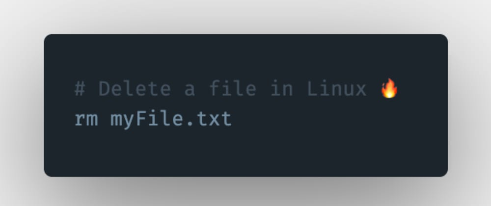 Cover image for How to remove a file in Linux?
