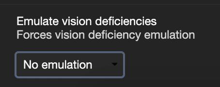Chrome emulate vision deficiencies