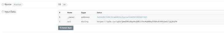 Decode Input Data Etherscan