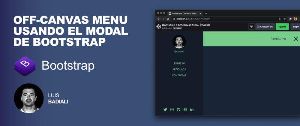 Cover image for Off-canvas menu usando el modal de Bootstrap