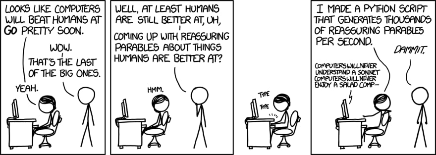 xkcd comic about humans are not very smart
