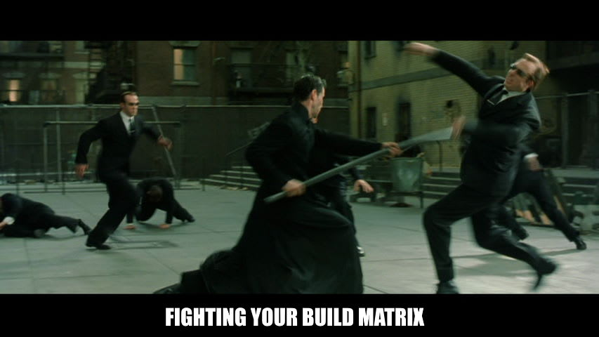 Fighting the build matrix