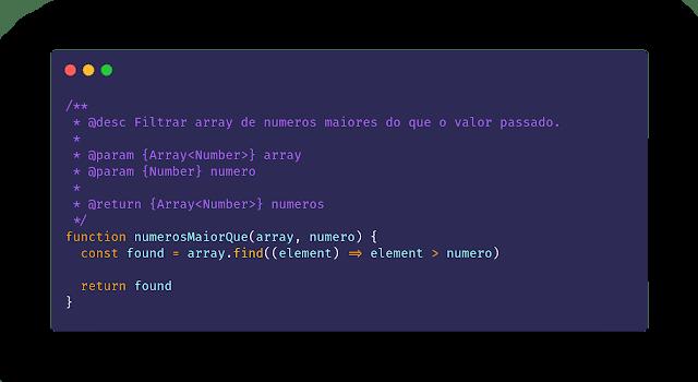 Código comentando com generics