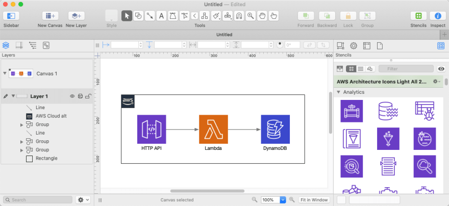 OmniGraffle AWS architecture example
