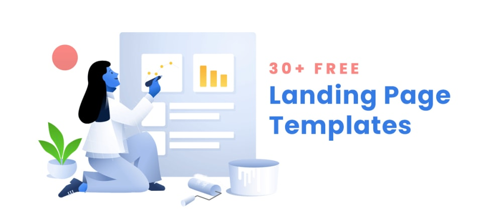 Cover image for 30+ Free Landing Page Templates