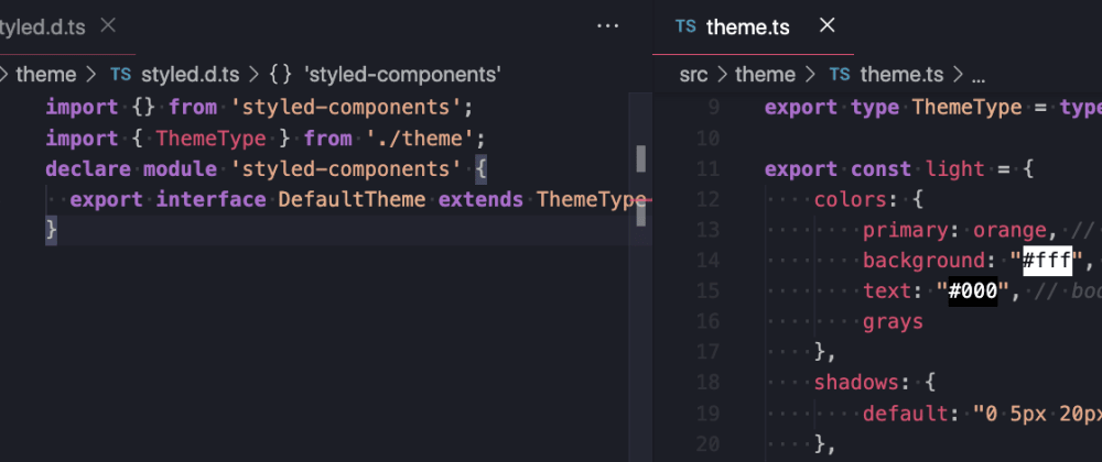 Cover image for Create styled.d.ts to make Typescript work with styled-components