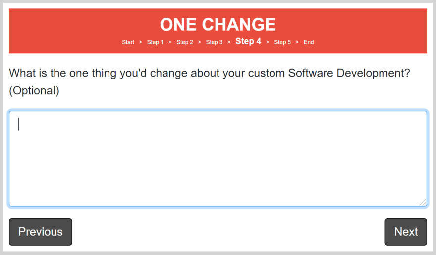 One Change Page