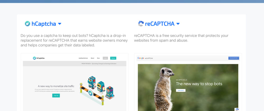 Cover image for Cloudflare replaced reCAPTCHA with hCaptcha. I followed their example. It took me 18 min.