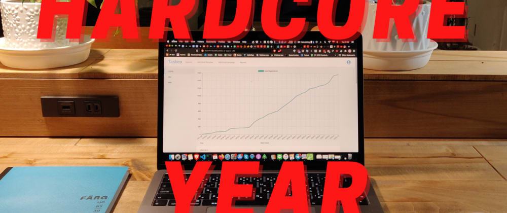 Cover image for Hardcore Year - building SaaS from $0 to $100,000 ARR