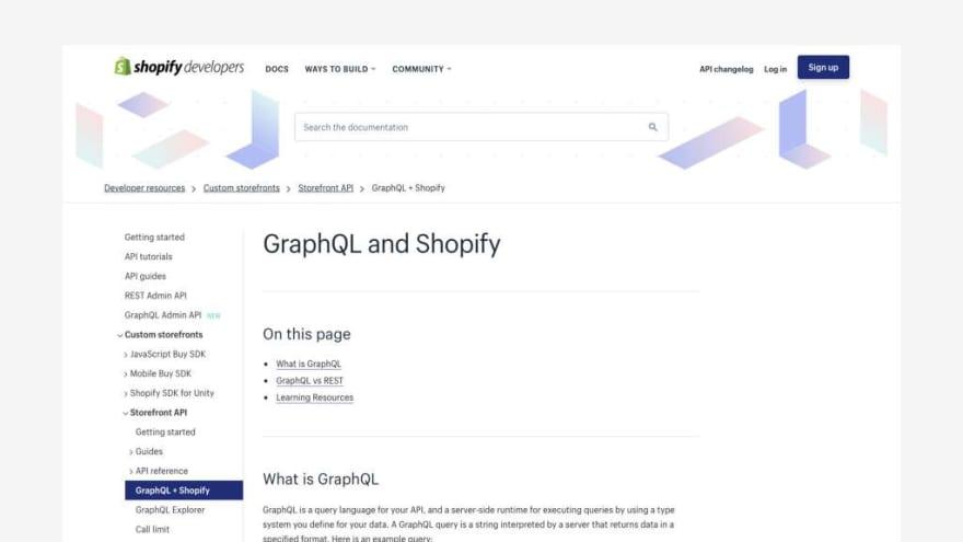 Front-end 2019 - Shopify API docs