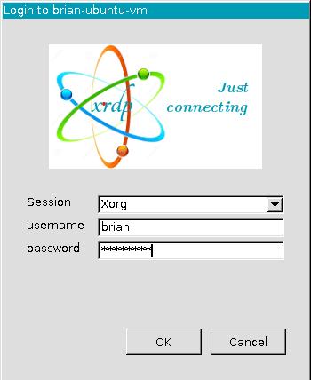 Ubuntu virtual machine login prompt