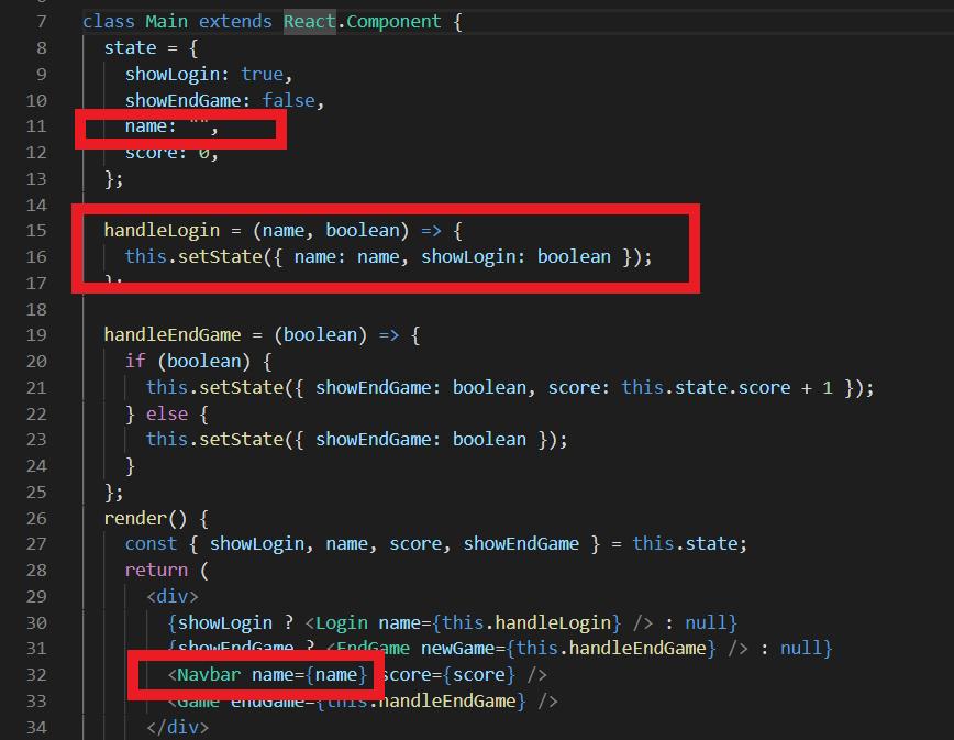 image of Main.js storing