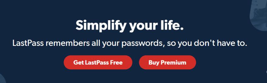Last Pass Chrome Extension Website Snippet